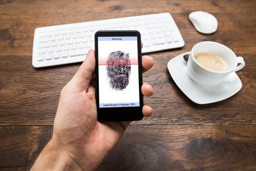 czytnik linii papilarnych w smartfonie